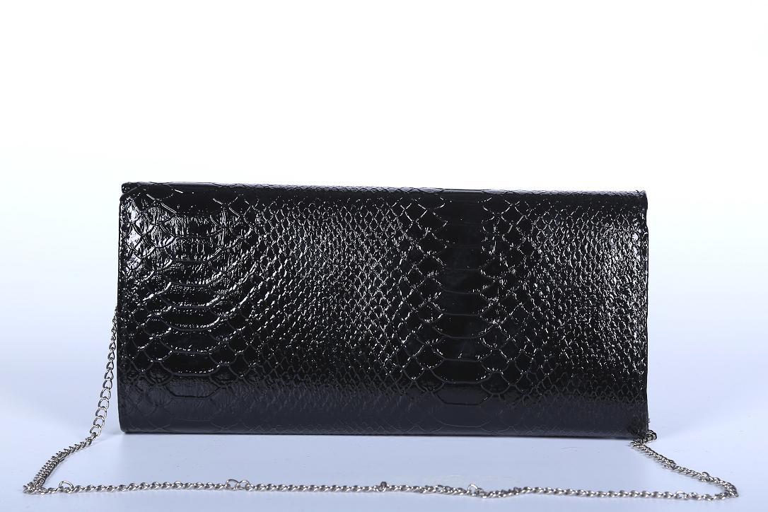 Poseta clutch neagra H02015 back