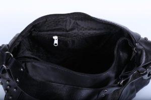 Geanta neagra piele eco cu tinte interior
