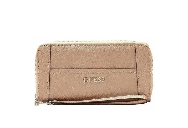 Portofel Dama Guess Delaney Rose Gold Zip-Around fata