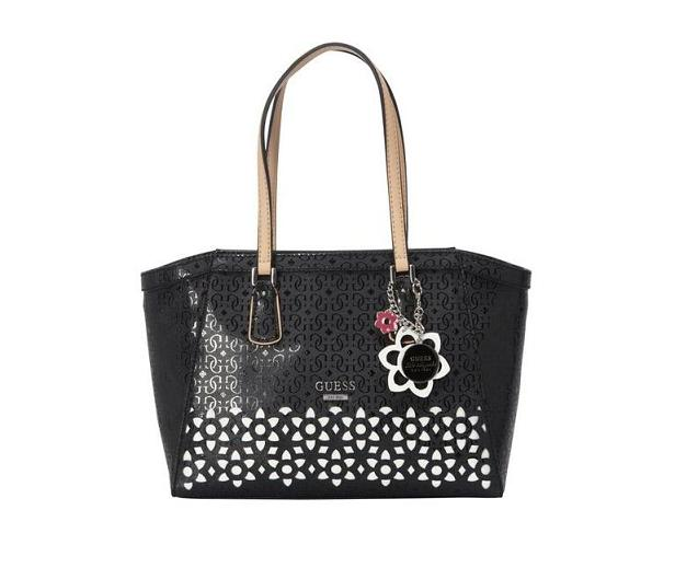 Guess Downtown Laser Cut Alb Negru