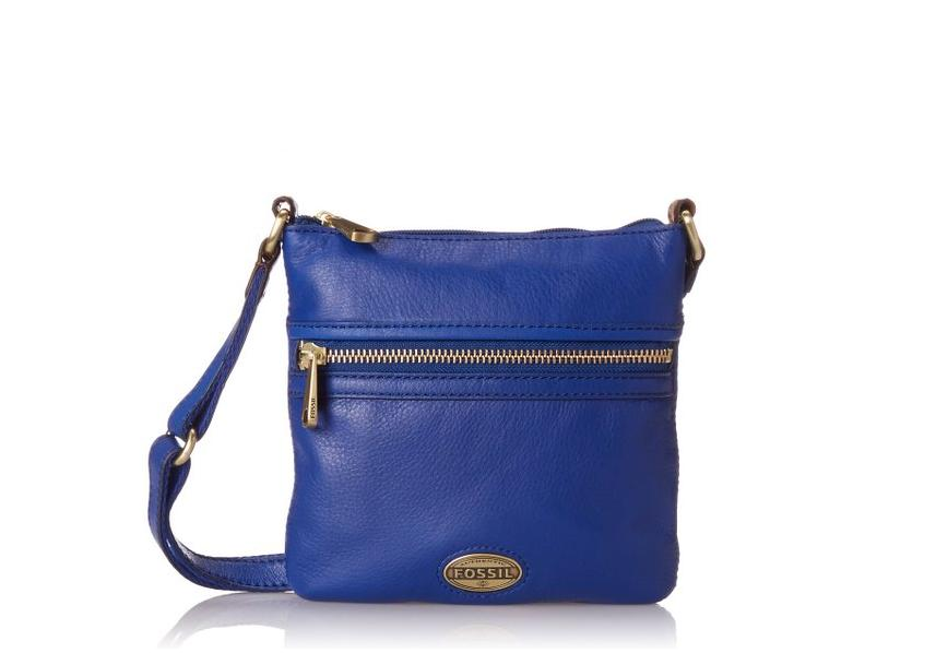 Geanta dama Fossil Explorer Mini Cross Body Albastru