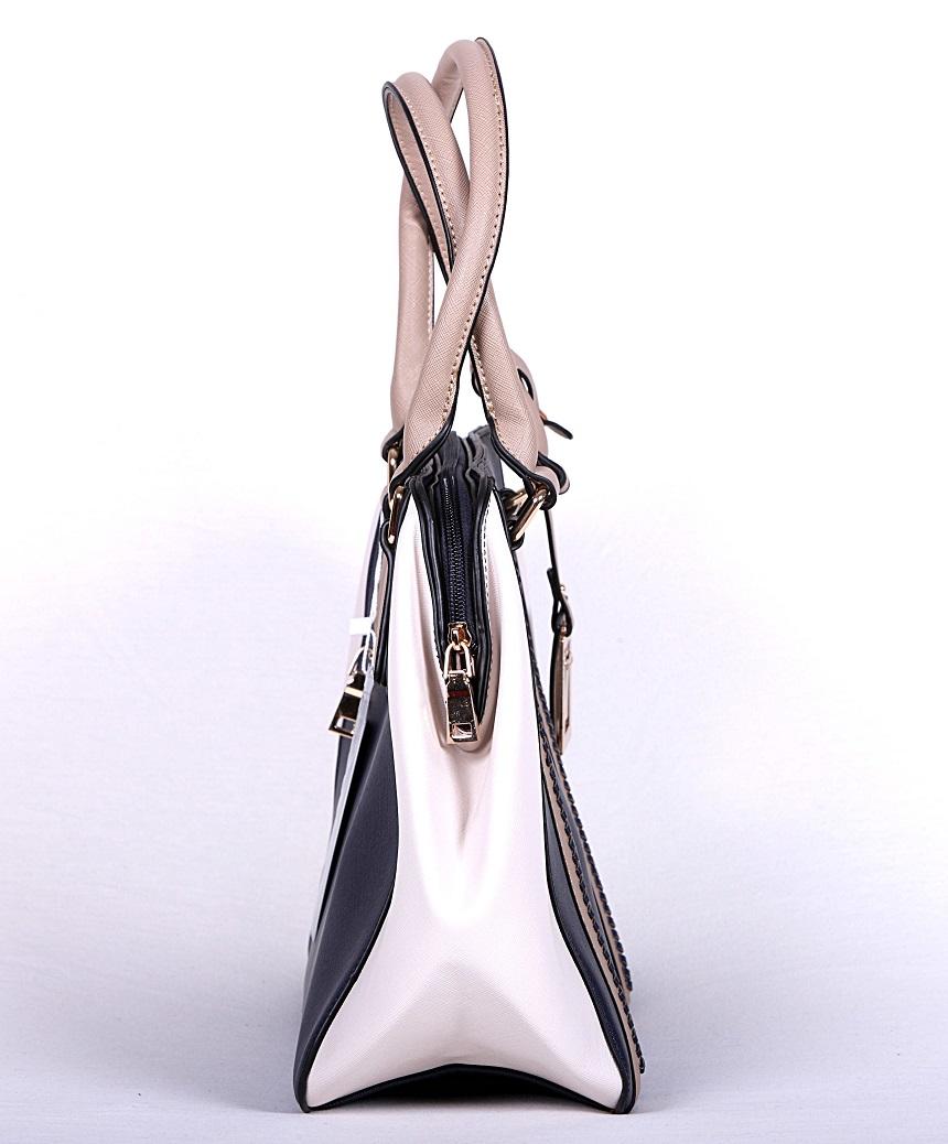 geanta casual dama alb navy 3