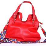 geanta casual rosu bareta multicolora 7