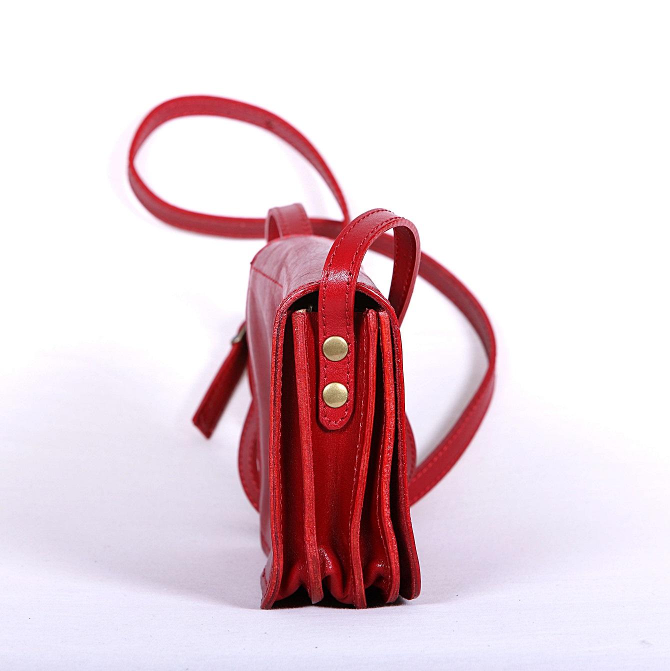 geanta clutch crossbody piele naturala rosu 3