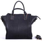 geanta dama neagra piele eco office