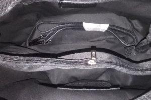geanta dama tip sac piele naturala negru interior