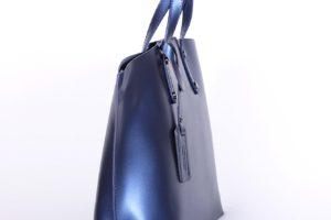geanta piele naturala albastru 2