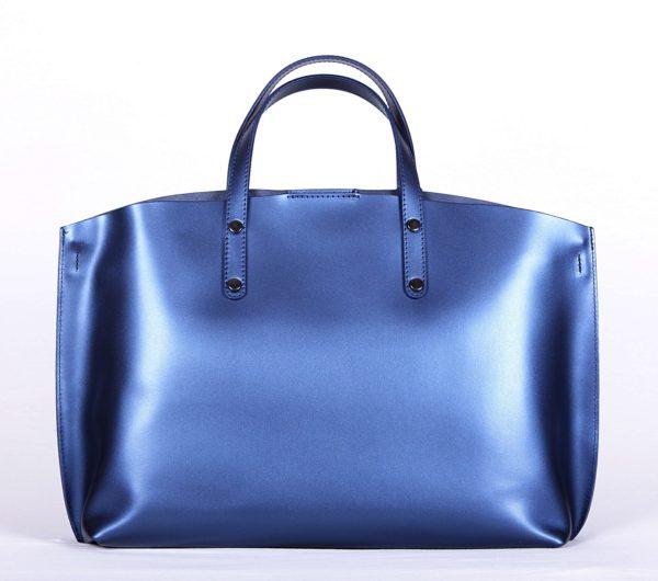 geanta piele naturala albastru 3
