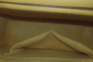 poseta clutch cross body galbena interior